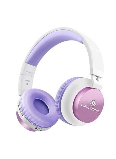 Biensound Bt60 Katlanabilir Kulaküstü Bluetooth Kulaklık Lila